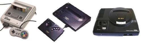Super Nintendo/                                 Neo Geo/                                     Sega Megadrive